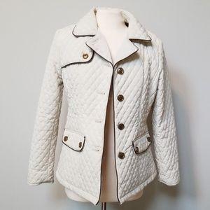Women's Esprit Cream Quilted Jacket, Size S